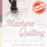 Machine Quilting Negative space