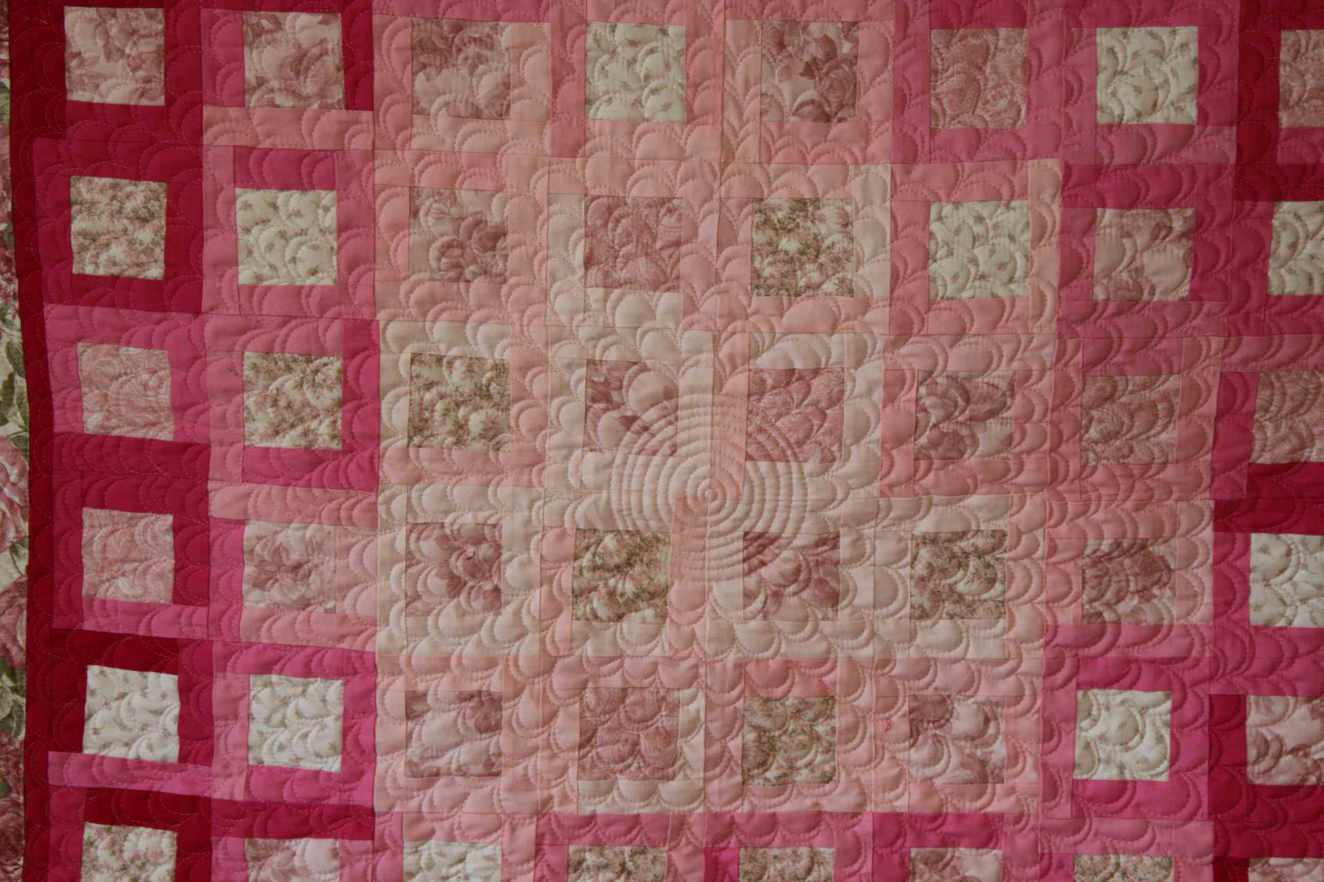 flower meander quilting example