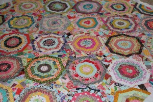 scrappy spiderweb quilt