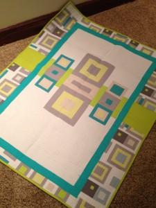 modern quilt panel
