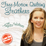 Free-motion quilting with feathers