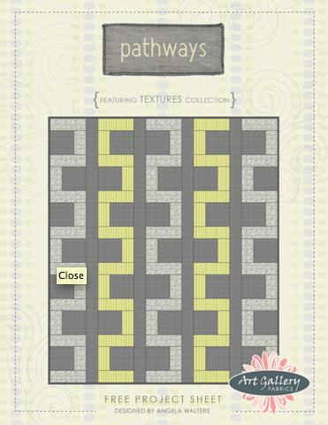 Pathways free quilt pattern