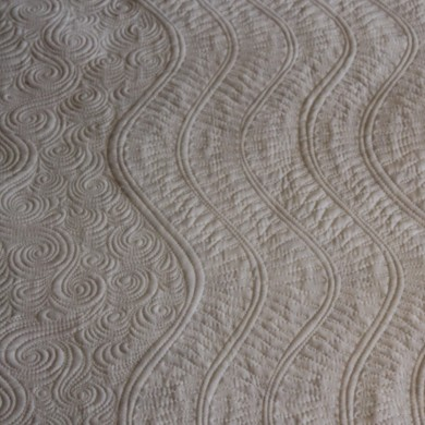 wavy quilting lines