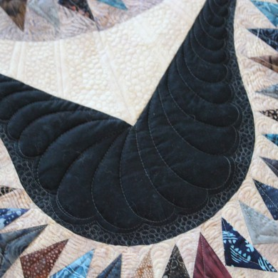 feather quilting design