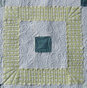close up of dense quilting