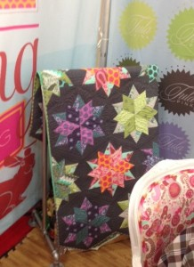 tula pink booth at quilt market