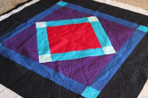 amish quilt with machine quilting