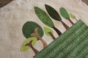 tree appliqué quilt