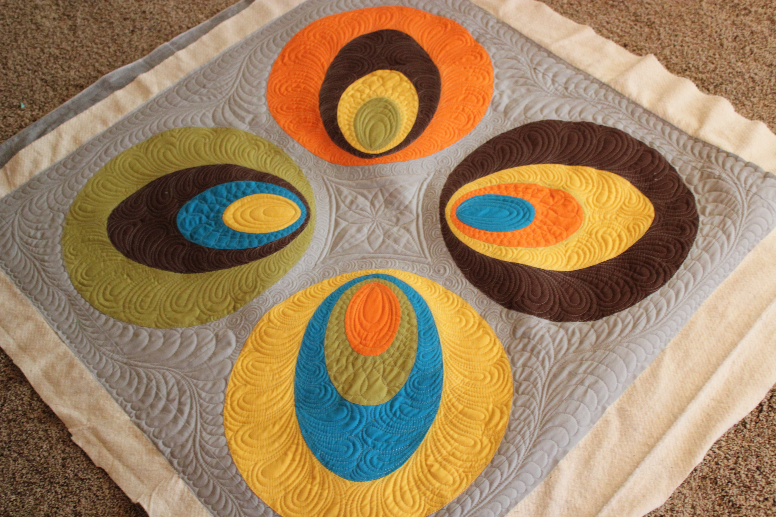 Quilting Is My Therapy Machine Quilting Applique Quilts - Angela ... : machine quilting a large quilt - Adamdwight.com