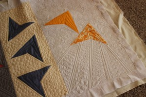 machine quilting appliqué flying geese