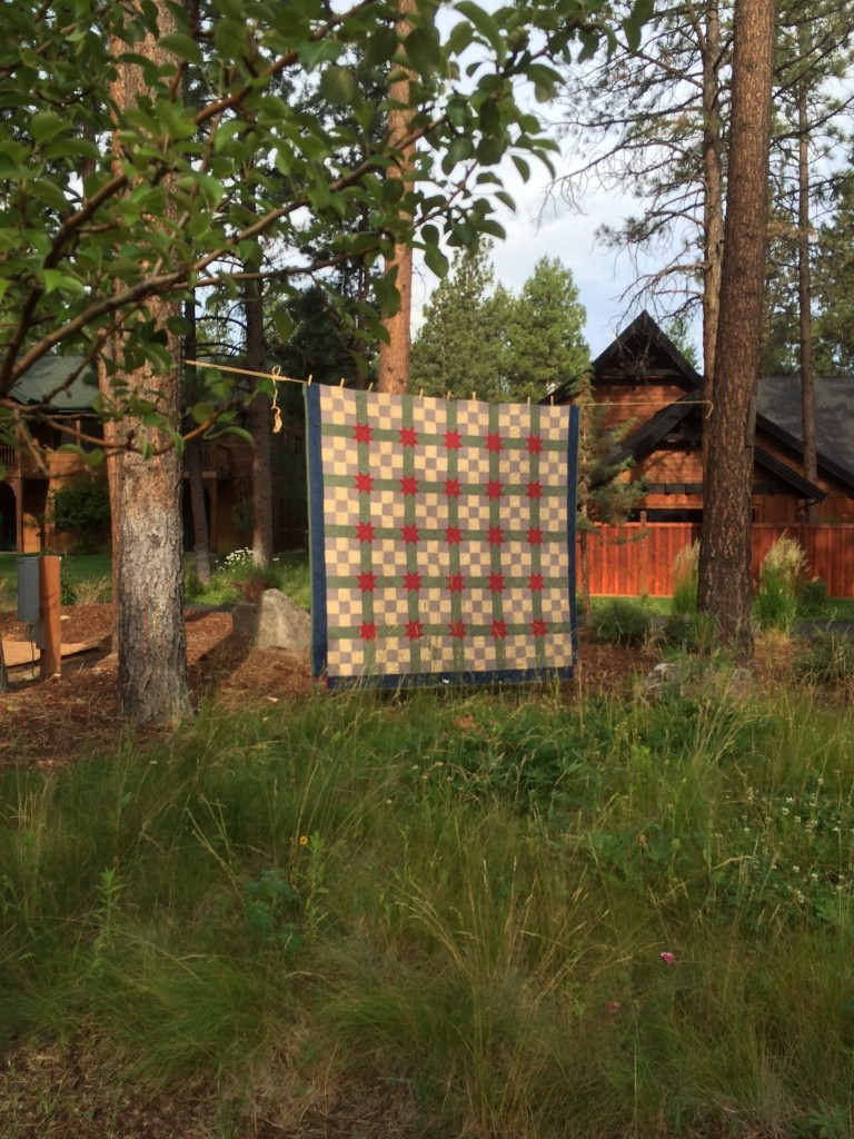 The first quilt that Grandpa helped me make.