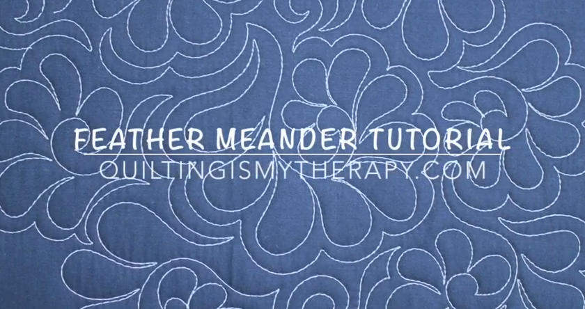 Quilting Is My Therapy The Feather Meander Video Tutorial