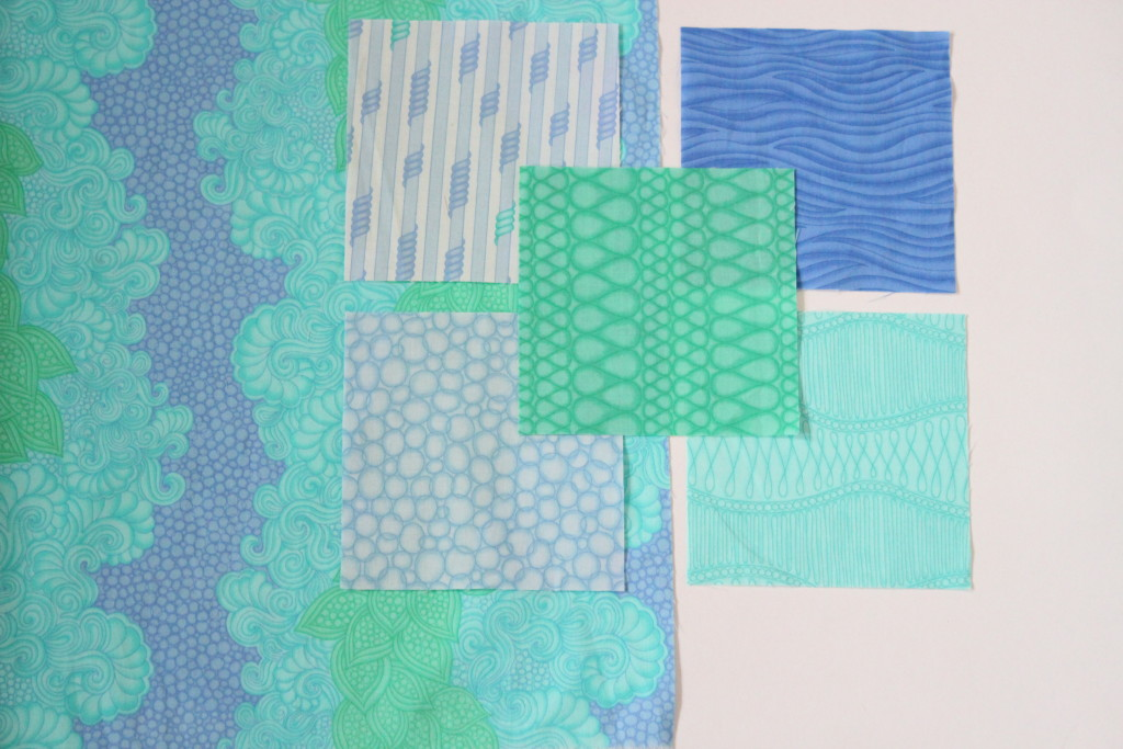 Drawn fabric collection in pond