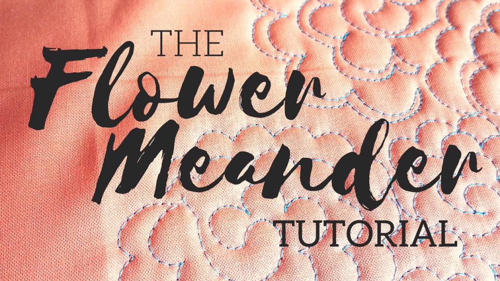 Flower Meander video tutorial