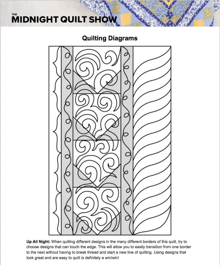 free machine quilting diagrams