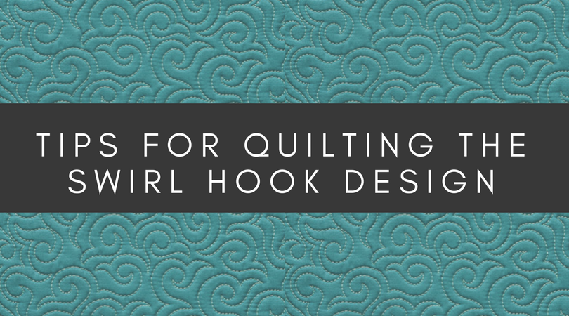 tips for machine quilting the swirl hook design