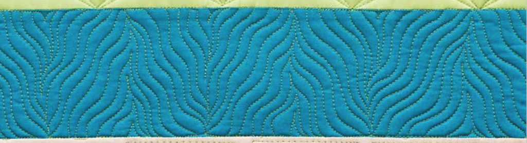 wavy wavy quilting design in shape by shape quilting