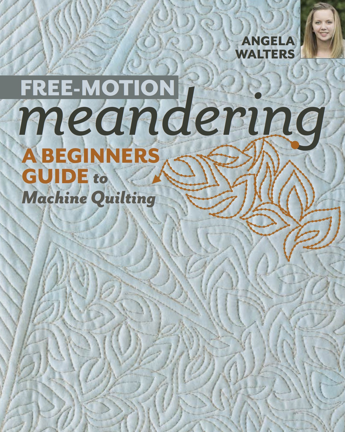 machine quilting book by angela walters