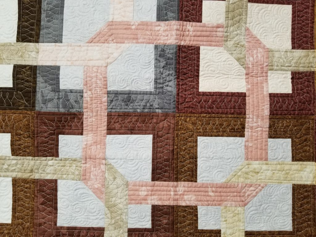 machine quilting the wishbones design