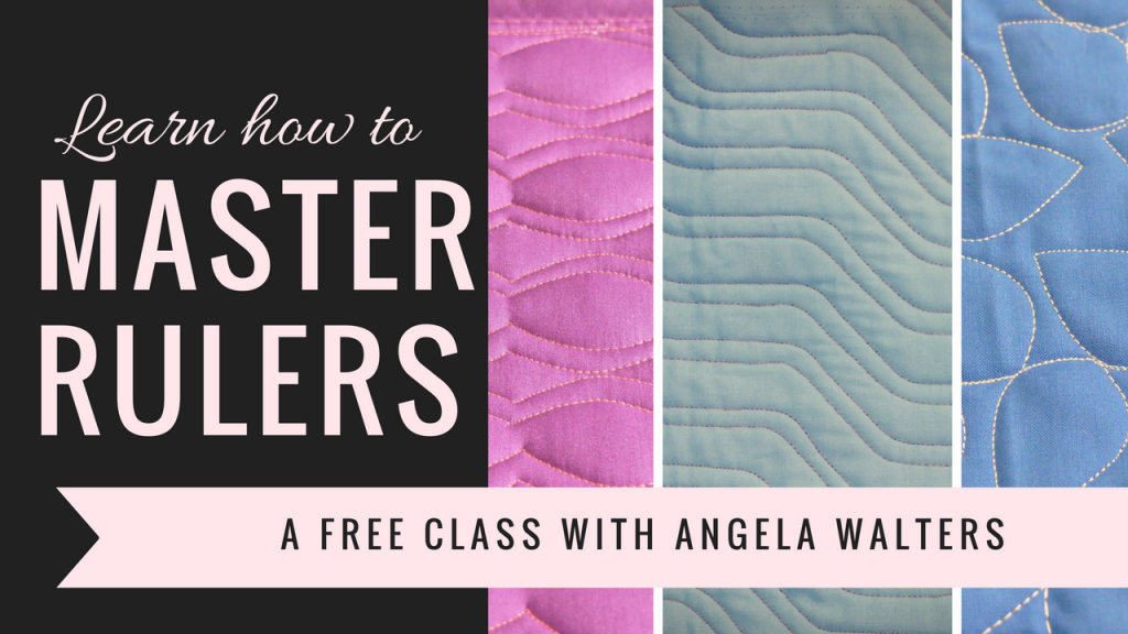 master machine quilting with rulers